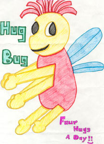 Here is a drawing of the HUG BUG from Christina in Coquitlam, BC