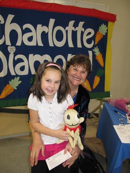 Charlotte and Brianna at the North Delta Bilingual Family concert
