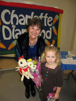 Charlotte and Brooklyn at the North Delta Bilingual Family concert
