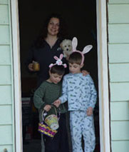 Rebecca, Nelson and Hudson Shier - Easter Rabbits, Vernon, BC