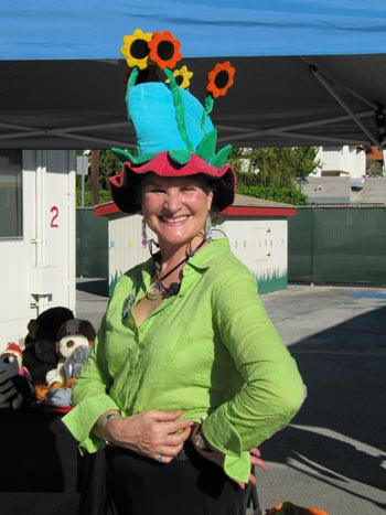 Each of us is a Flower - with Flower Hat at Launch Preschool in LA