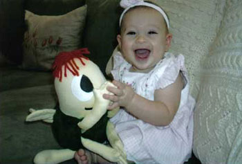 Sophia Heirshberg and her Hug Bug 'Forest'