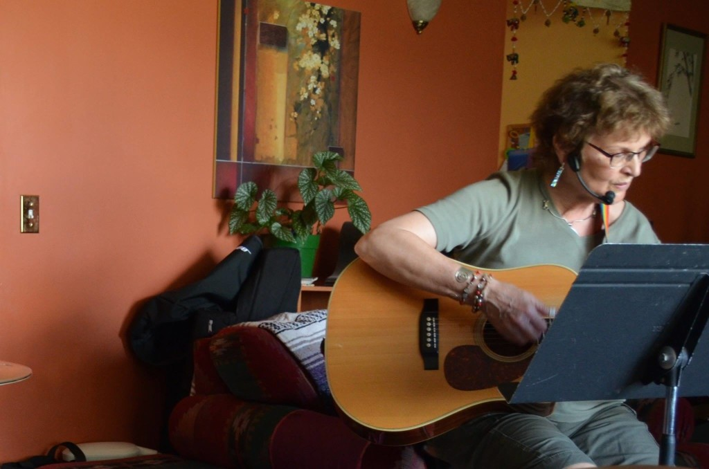 In the studio - 10 new songs to rehearse! [Photo Credit: Linnea Good]