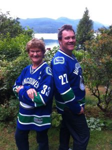 Charlotte and Matt with Sedins Jerseys 2016