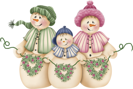 Snow Family [Image © Folk Art Treasures. Used with Permission.]