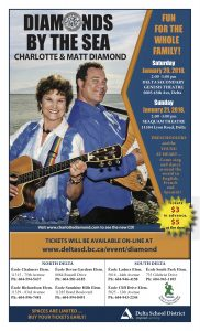 Charlotte Diamond in Concert with Delta School District January 20-21, 2018