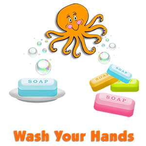 """Wash Your Hands (to the tune of """"Octopus (Slippery Fish)"""")"""